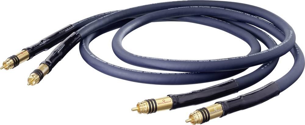 Cinch avdio priključni kabel [2x cinch vtič - 2x cinch vtič] 1.25 m modra pozlačeni kontakti Oehlbach XXL® Series 1