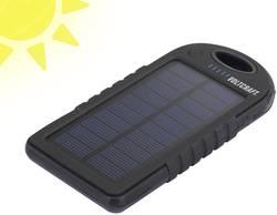 Solcelle-powerbank VOLTCRAFT SL-10 Litium 5000 mAh Sort