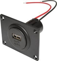ProCar Power USB Einbausteckdose EV mit Montageplatte 12 V til 5 V, 24 V til 5 V 3 A Kabel afisoleret