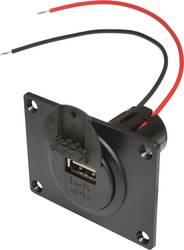 ProCar Power USB Einbausteckdose EV mit Montageplatte und Deckel 12 V til 5 V, 24 V til 5 V 3 A Kabel afisoleret