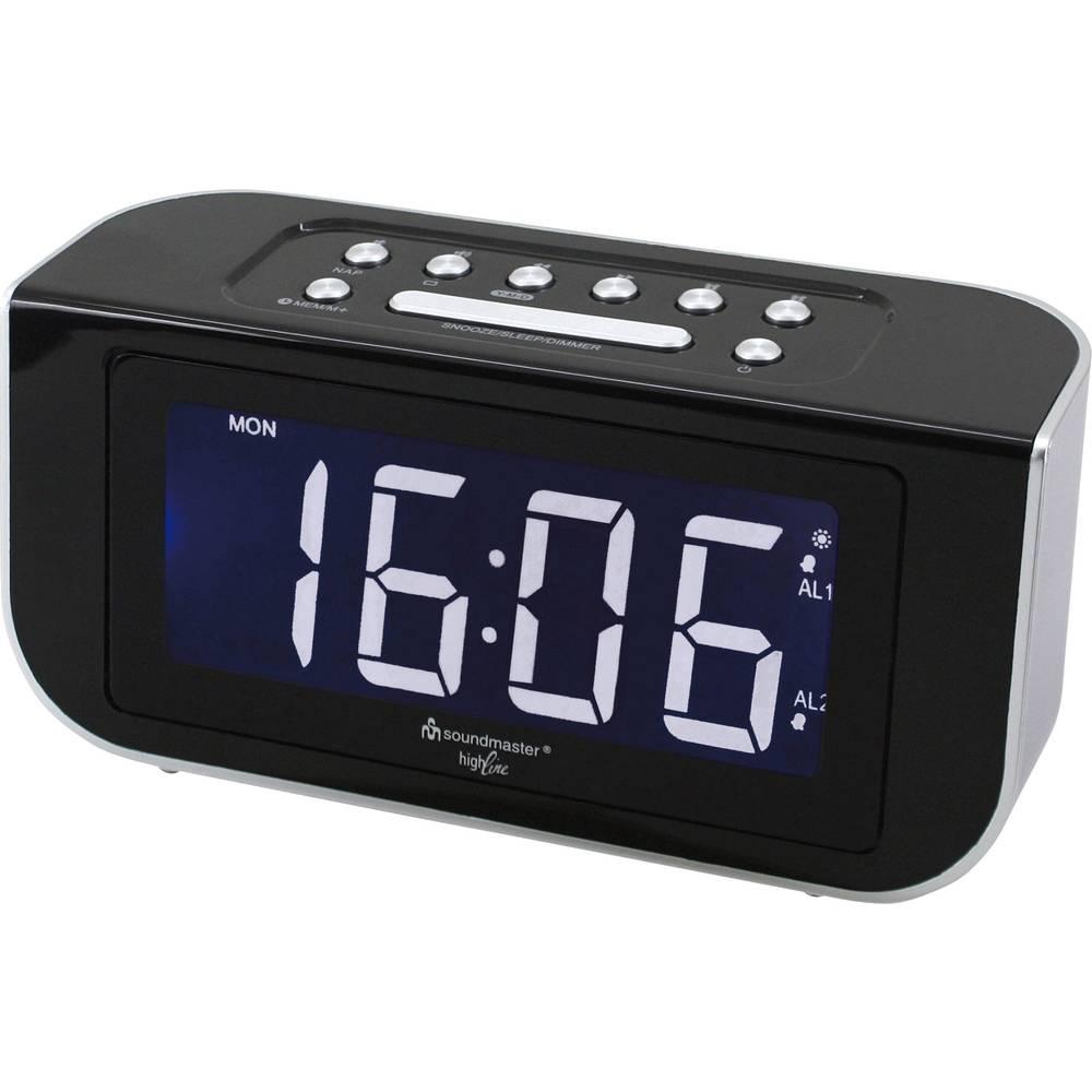 UKW radijski kontrolirana budilica SoundMaster FUR4005 UKW crne boje