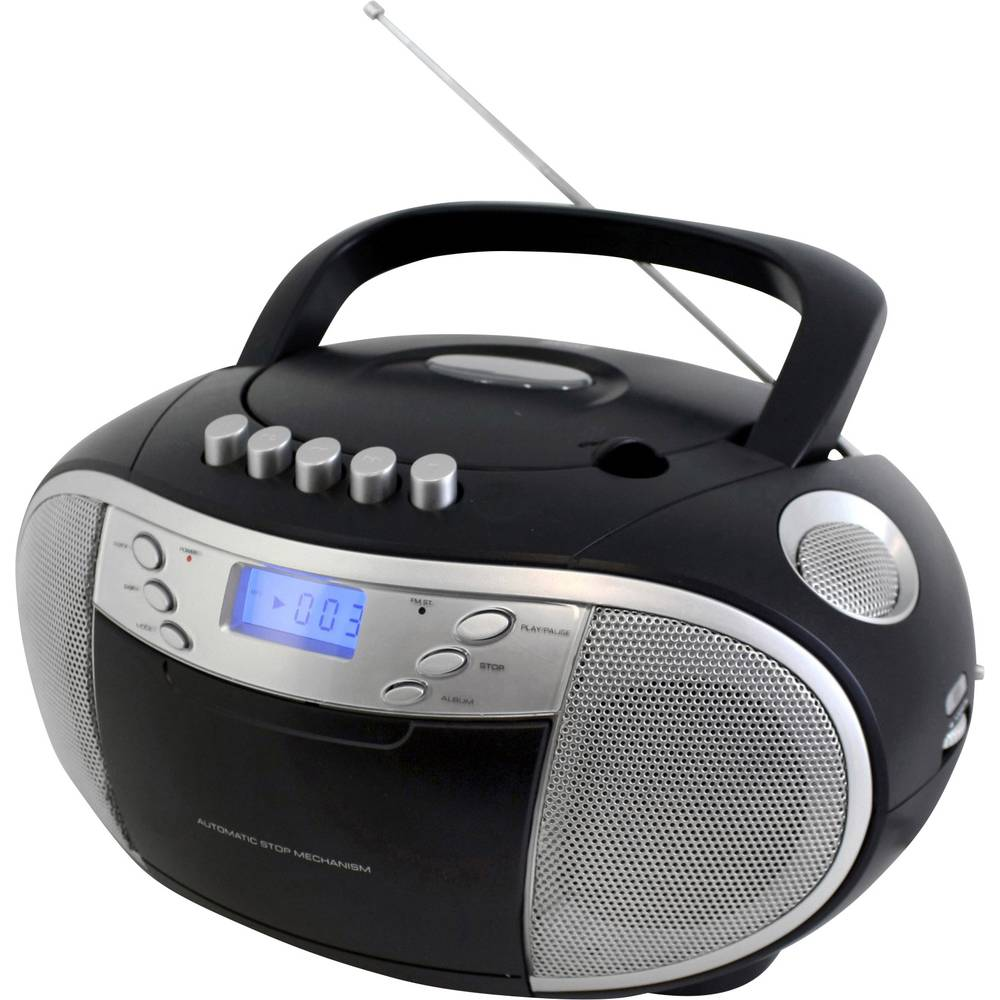 Soundmaster SCD6900 UKW/MW CD-player, kasetofon, CD-radio, džepni radio, UKW, crne boje