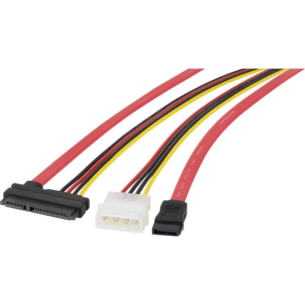 Hard drives Cable [1x SATA socket 7-pin, IDE power plug 4-pin - 1x ...