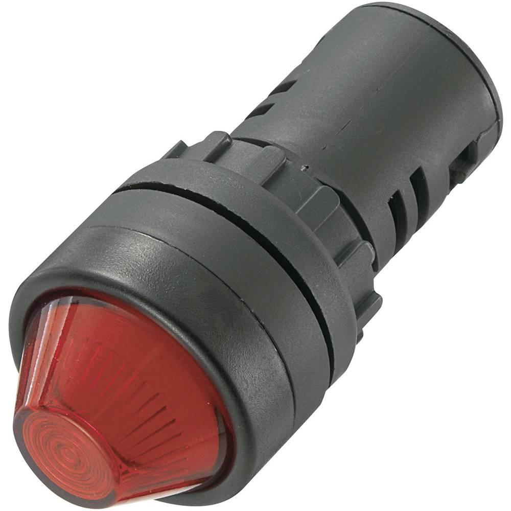 LED signalna lučka, rdeče barve, 24 V/DC 24 V/AC TRU Components AD16-22HS/24V/R