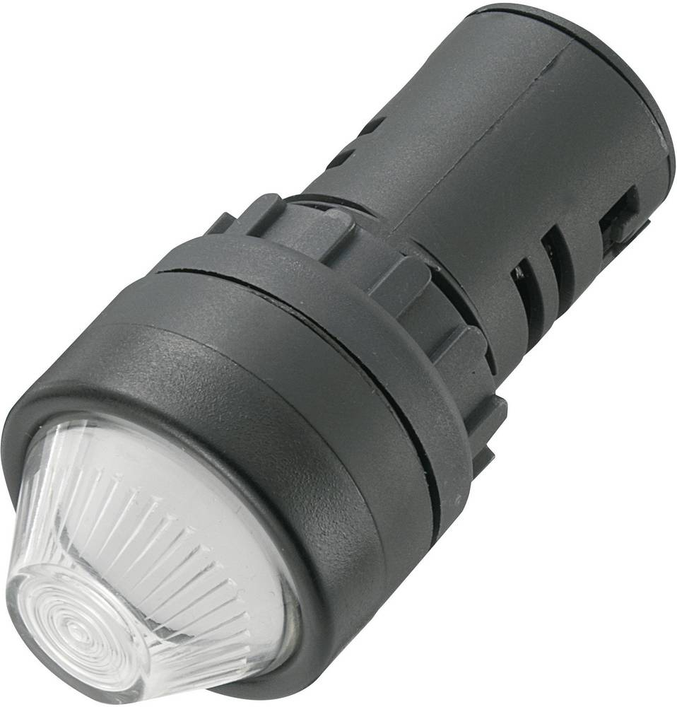 LED signalna lučka, bele barve 12 V/DC 12 V/AC TRU Components AD16-22HS/12V/W