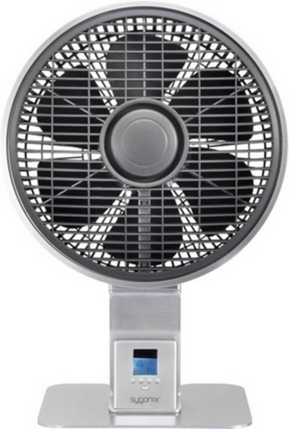 Namizni ventilator Sygonix Ostro 50 W (premer x V) 28 cm x 51 cm srebrna