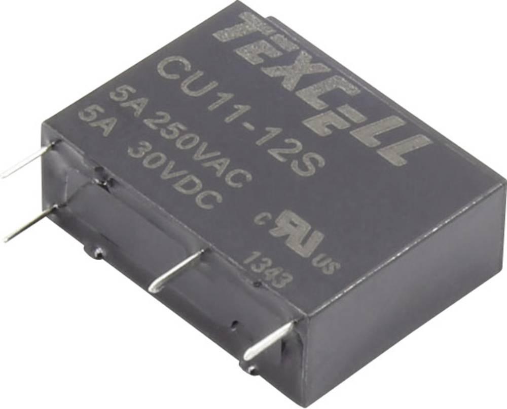 Rele za tiskana vezja 12 V/DC 5 A 1 zapiralni Texcell CU11-12S 1 kos