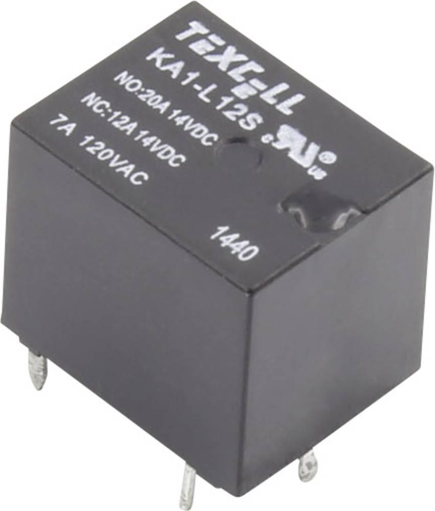 Rele za tiskana vezja 12 V/DC 25 A 1 preklopni Texcell KA1-L12S 1 kos