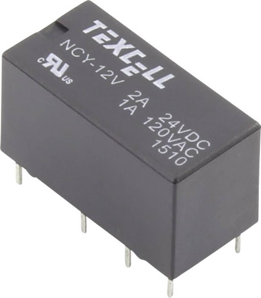 Rele za tiskana vezja 12 V/DC 2 A 2 preklopni Texcell NCY-12V 1 kos