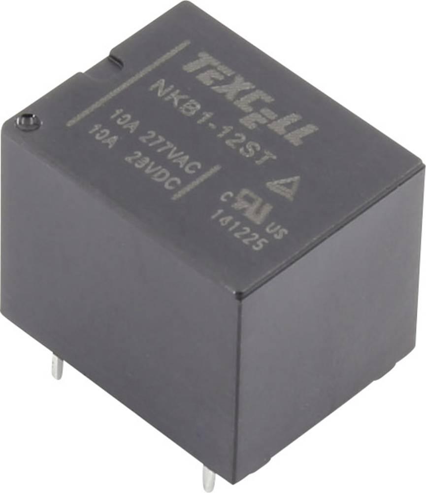 Rele za tiskana vezja 12 V/DC 10 A 1 preklopni Texcell NKB1-12ST 1 kos