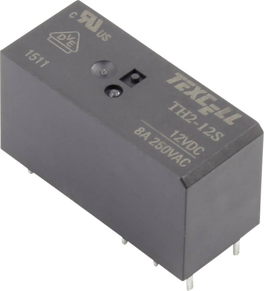 Rele za tiskana vezja 12 V/DC 8 A 2 preklopni Texcell TH2-12S 1 kos