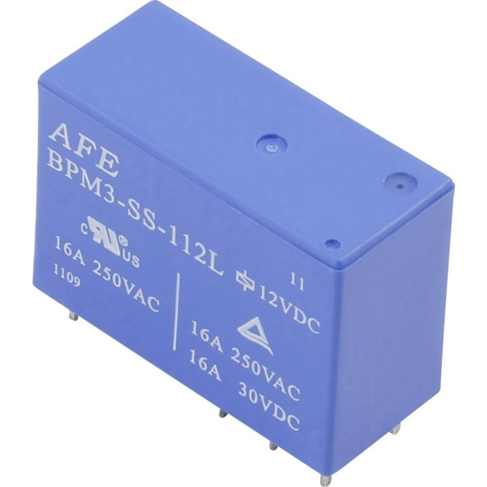 Printrelæ 12 V/DC 16 A 1 x skiftekontakt AFE BPM3-SS-112L 1 stk