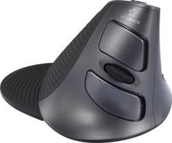 Trådløs mus Laser Renkforce M618GL Ergonomisk korrekt Sort