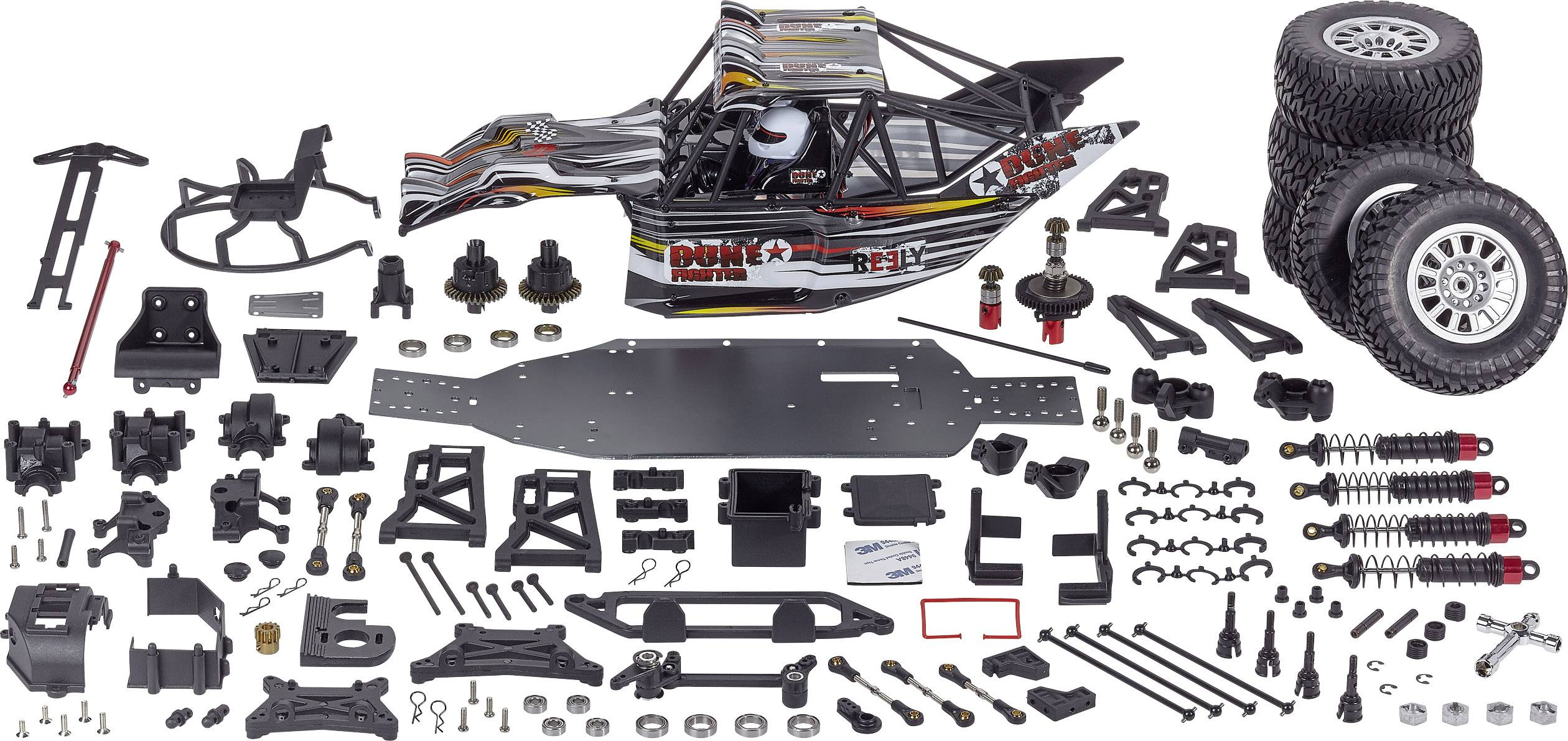 reely dune fighter 1 10 rc model car electric buggy 4wd kit