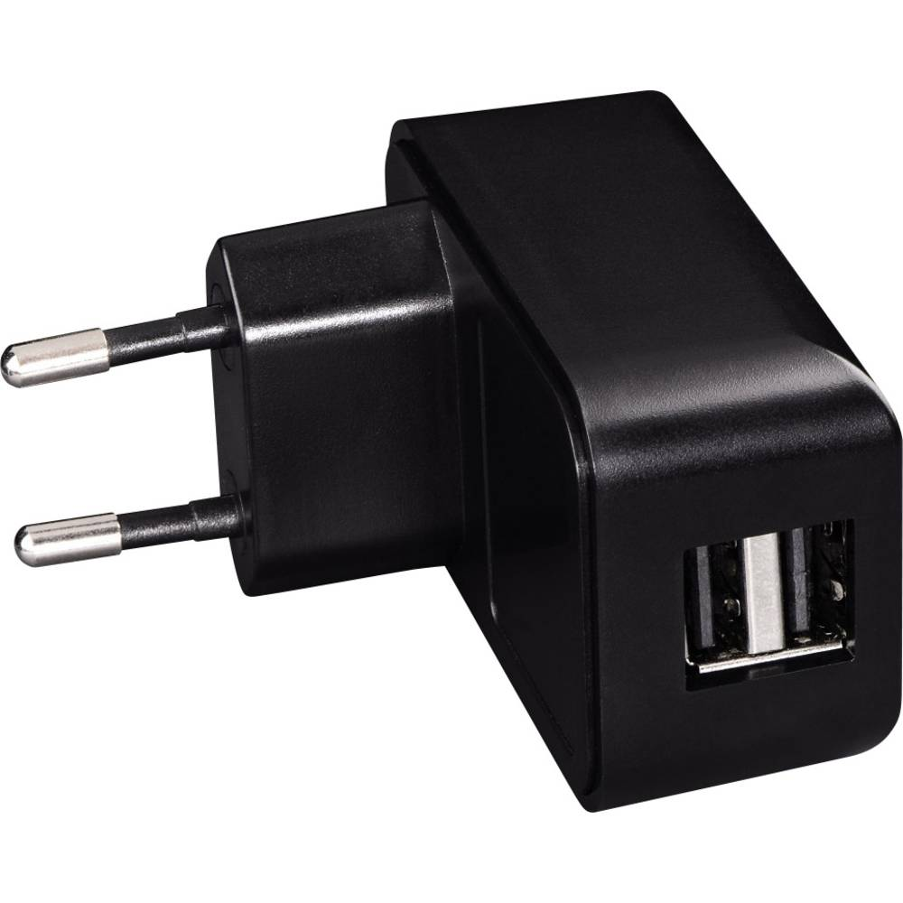 USB-oplader Hama 14198 00014198 Stikdåse Udgangsstrøm max. 2100 mA 2 x USB