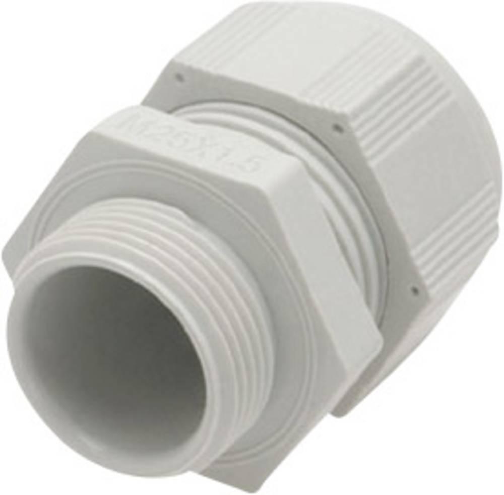 Kabelska uvodnica z zmanjšanim tesnilnim vložkom, vibracijska zaščita M63 poliamid, svetlo sive barve (RAL 7035) Helukabel HT-R