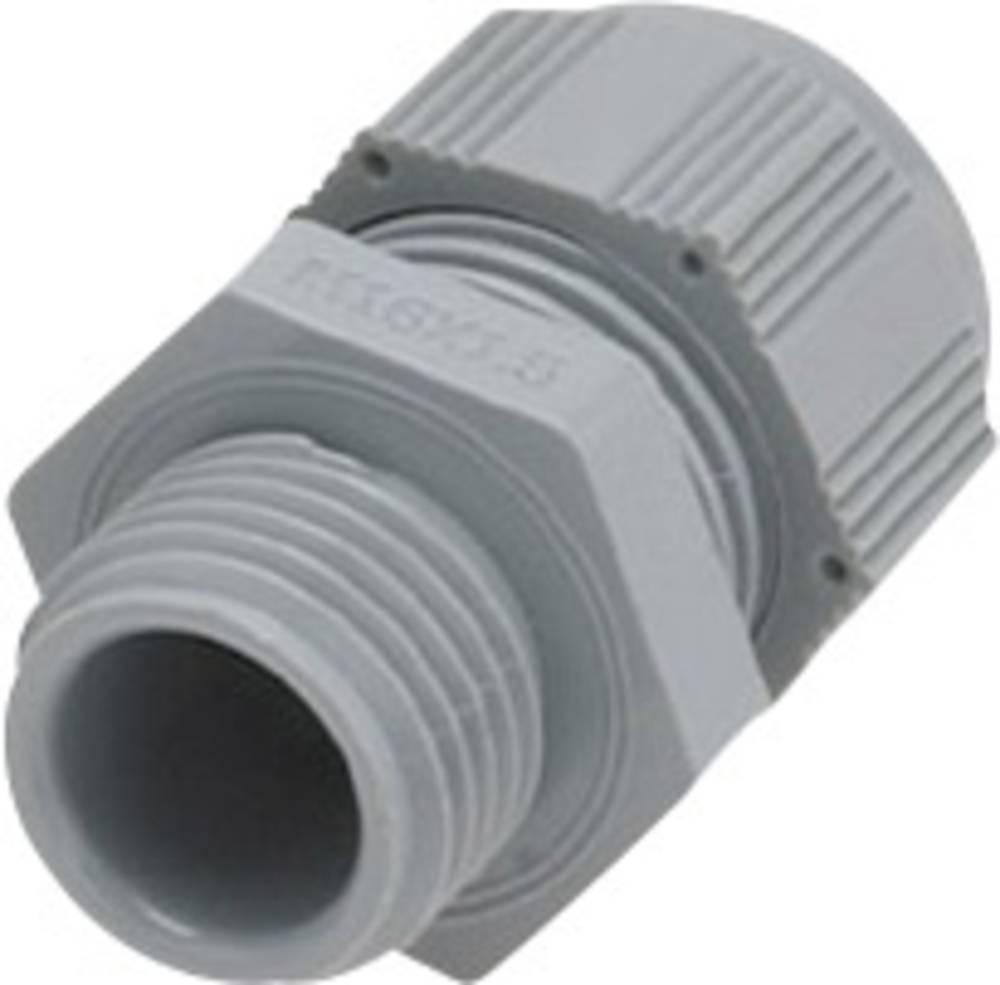 Kabelska uvodnica z zmanjšanim tesnilnim vložkom, vibracijska zaščita M32 poliamid srebrno-sive barve (RAL 7001) Helukabel HT-R