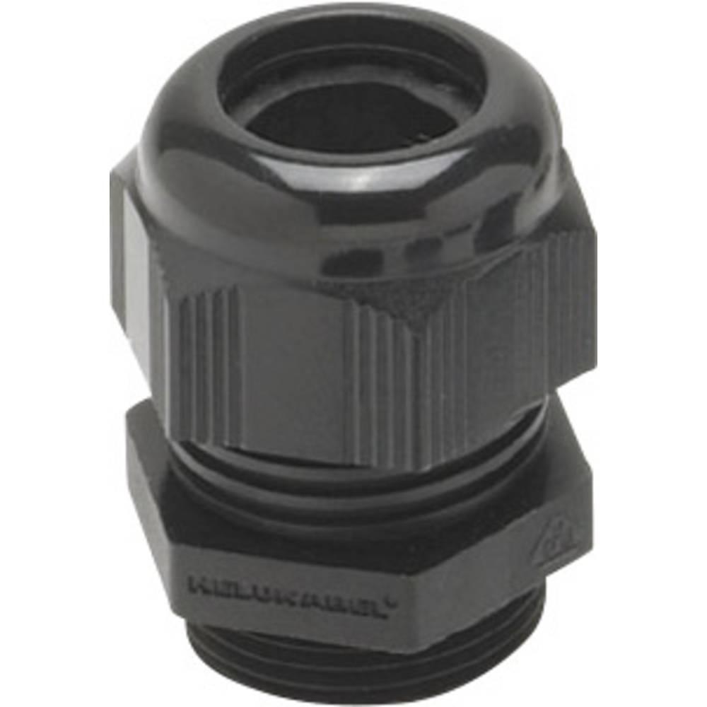 Kabelska uvodnica z zmanjšanim tesnilnim vložkom, vibracijska zaščita M25 poliamid črne barve (RAL 9005) Helukabel HT-R 903555 1