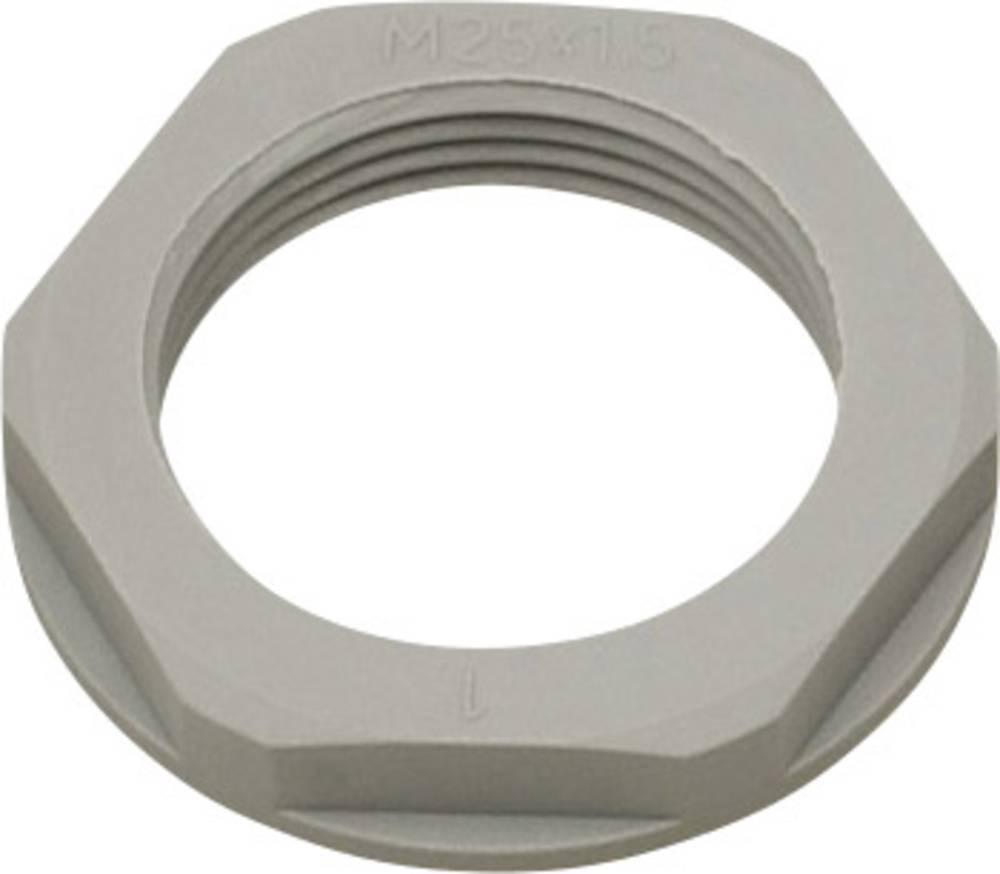 Låsemøtrik Helukabel 94260 M12 Polyamid Sølvgrå (RAL 7001) 1 stk