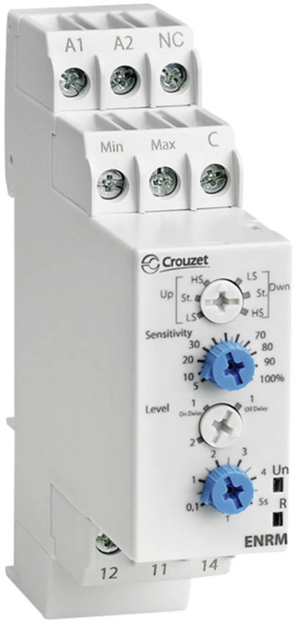 Overvågningsrelæer 24 V/DC, 24 V/AC, 240 V/DC, 240 V/AC 1 x skiftekontakt 1 stk Crouzet ENRM Overvågning niveau