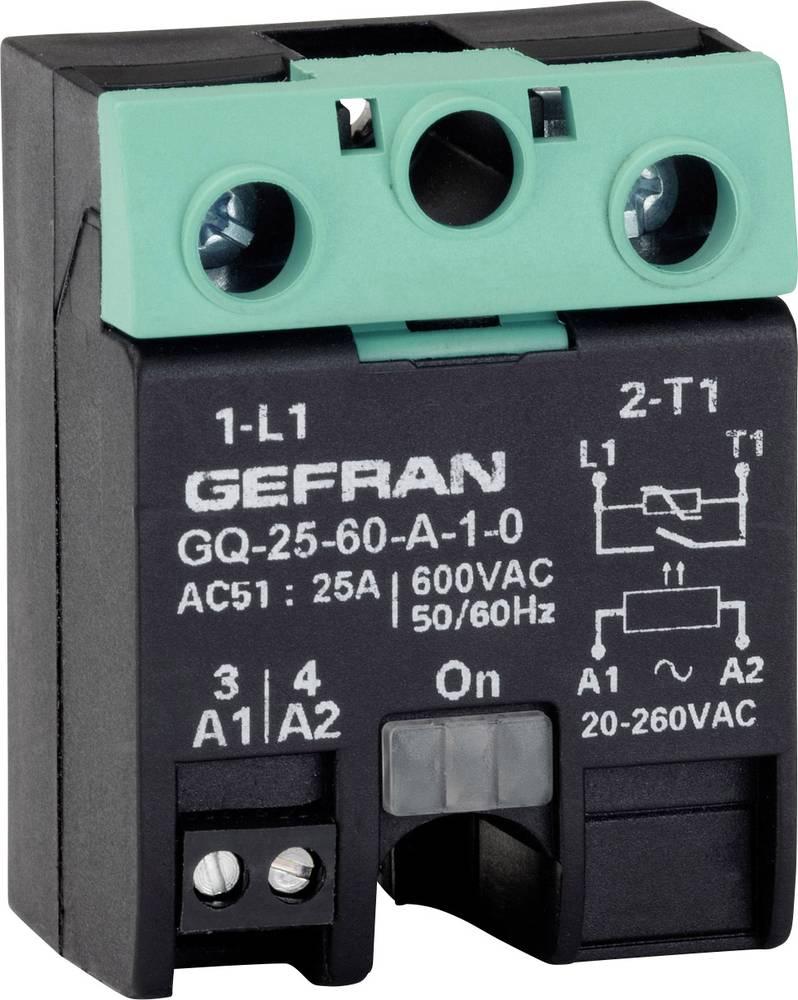 Halvlederrelæ 1 stk Gefran GQ-25-60-D-1-3 Last-Strøm (maks.): 25 A Koblingsspænding (max.): 600 V/AC Vekslende ved nulspænding