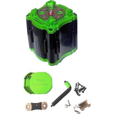 Tyva Li-Ion module 25.6 – 28.8 V battery pack for series,8 X 18650;M4 connector;(L x W x H) 75 x 75 x 106 mm;TYVA moduloo;SKMOD 8S1P-1