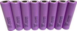 Special-batteri 18650 Flat-Top Litium Samsung ICR18650-26F 3.7 V 2550 mAh 8 stk