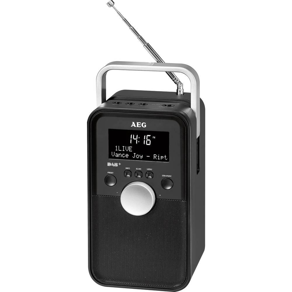 DAB+ putni radio AEG DR 4149 AUX, DAB+, UKW punjivi, crne boje