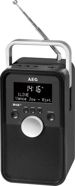DAB+ potovalni radio AEG DR 4149 AUX, DAB+, UKW polnilni, črne barve