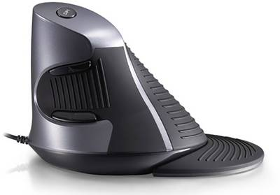 Renkforce M618BU USB mouse Optical Ergonomic Black