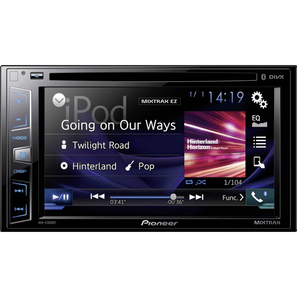 Dobbelt-DIN Moniceiver Pioneer AVH-X2800BT Tilslutning til ratbetjening, Tilslutning til bagkamera, Håndfrit Bluetooth®-system