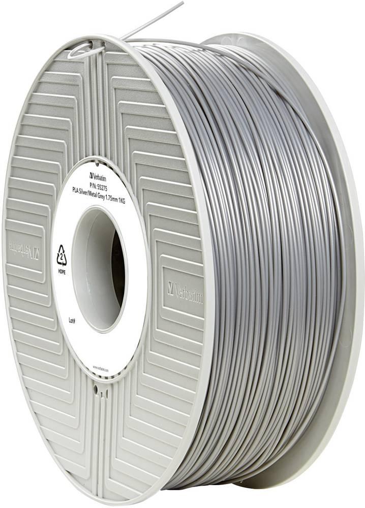 Filament Verbatim 55275 PLA 1.75 mm srebrne barve-metalik (mat) 1 kg