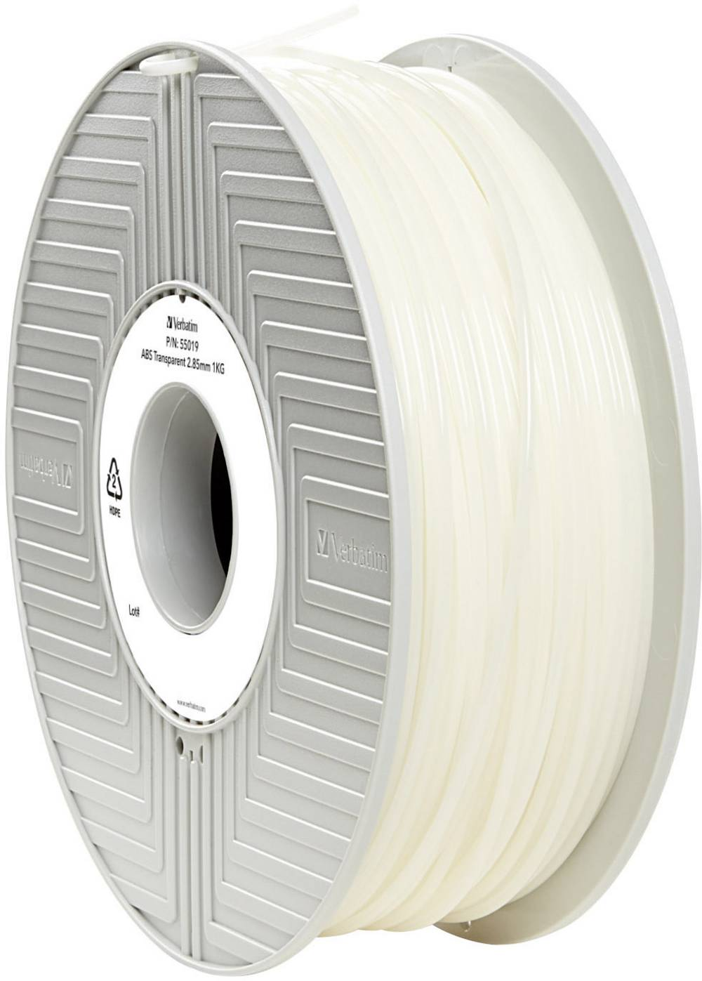 Filament Verbatim 55019 ABS 2.85 mm prozoren 1 kg