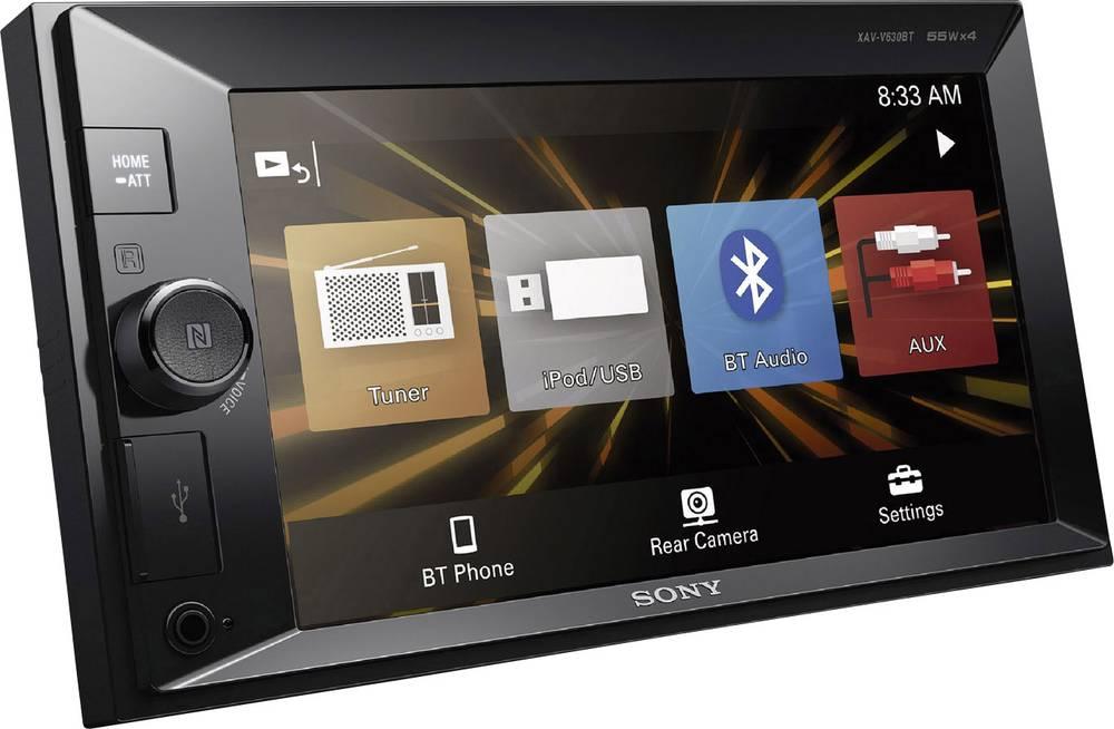 Dobbelt-DIN Moniceiver Sony XAV-V630BT Håndfrit Bluetooth®-system