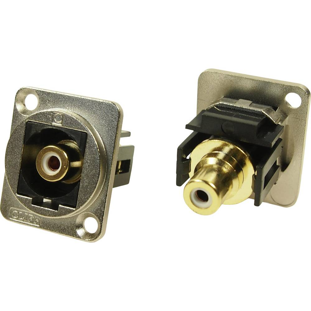 XLR adapter Cinch vtičnica na Cinch vtičnico bel, adapter, vgradni CP30231M Cliff vsebina: 1 kos