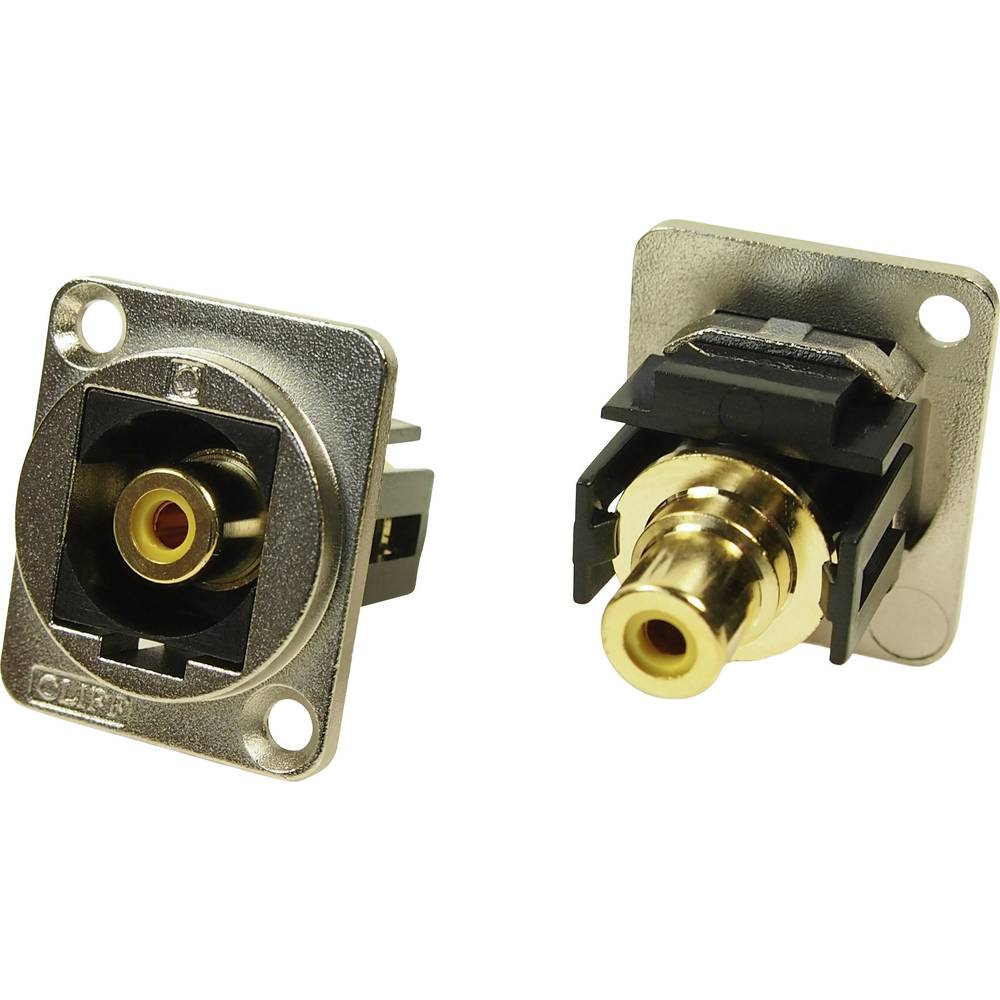 XLR adapter Cinch vtičnica na Cinch vtičnico rumen, adapter, vgradni CP30232M Cliff vsebina: 1 kos