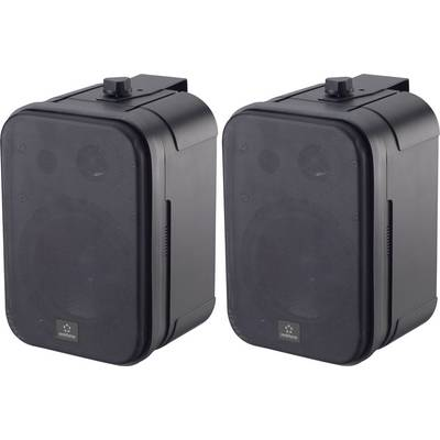 Renkforce Control 250 Outdoor speaker 30 W IP54 Black 1 Pair