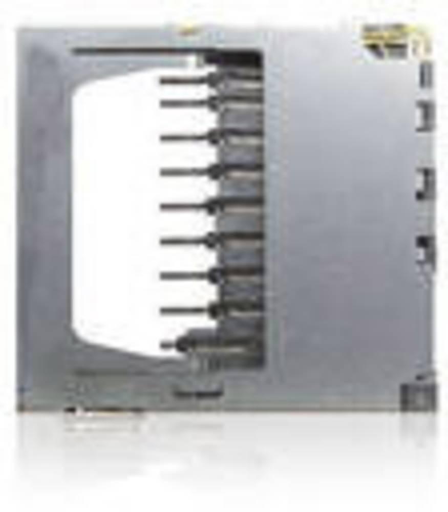Podnožje za kartice SD, MMC št. kontaktov: 9 potisno, potisno Yamaichi FPS009-2305-0 vklj. stikalo 1 kos