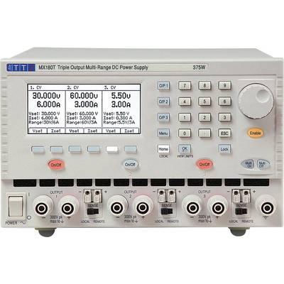 Aim TTi MX180T Bench PSU (adjustable voltage) 0 – 120 V 0 – 3 A 18 W, 180 W No. of outputs 3 x