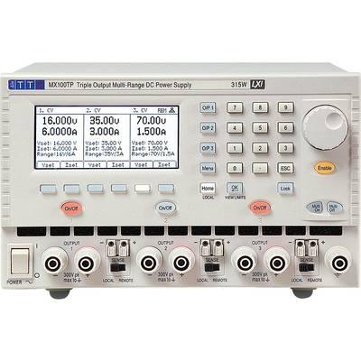 Aim TTi MX100TP Bench PSU (adjustable voltage) 0 - 35 Vdc 0 - 6 A No. of outputs 3 x