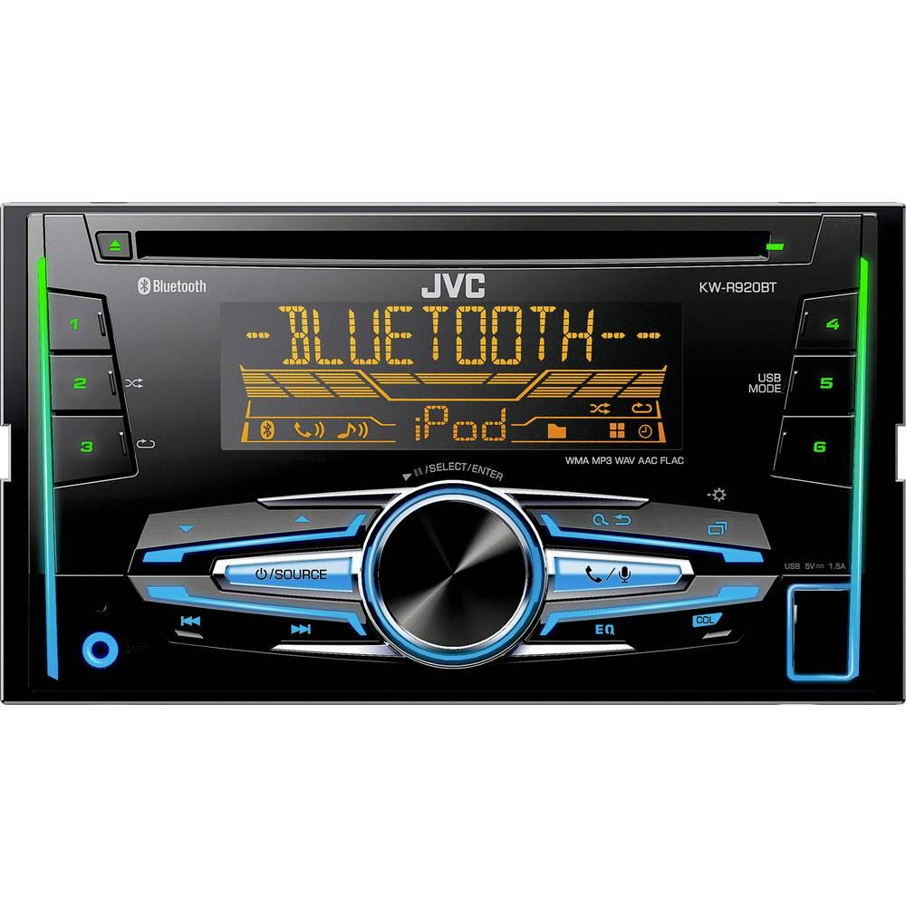 Dobbelt-DIN-bilradio JVC KW-R920BT Håndfrit Bluetooth®-system