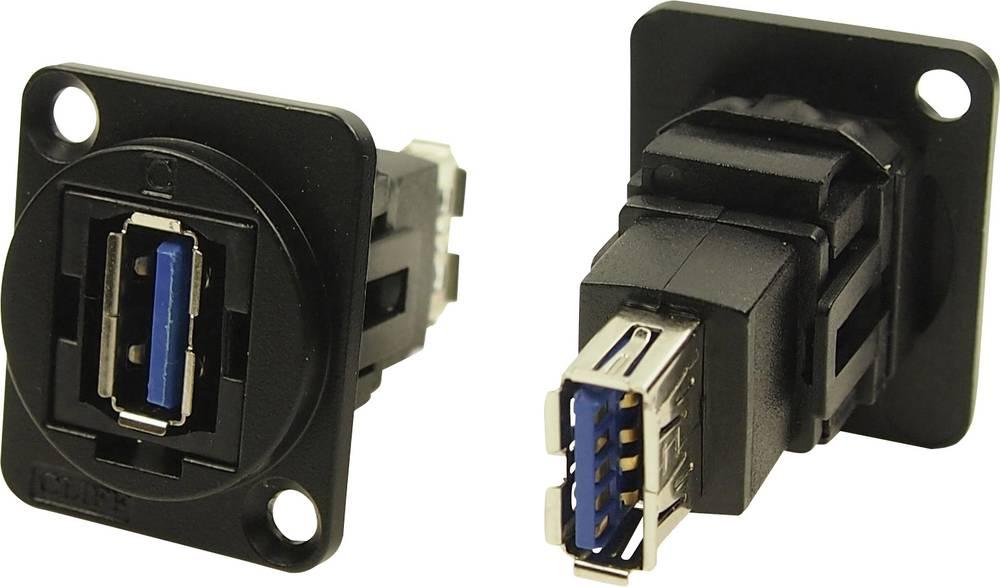XLR adapter USB A vtičnica 3.0 na USB B vtičnico 3.0 adapter, vgradni CP30205NMB Cliff vsebina: 1 kos