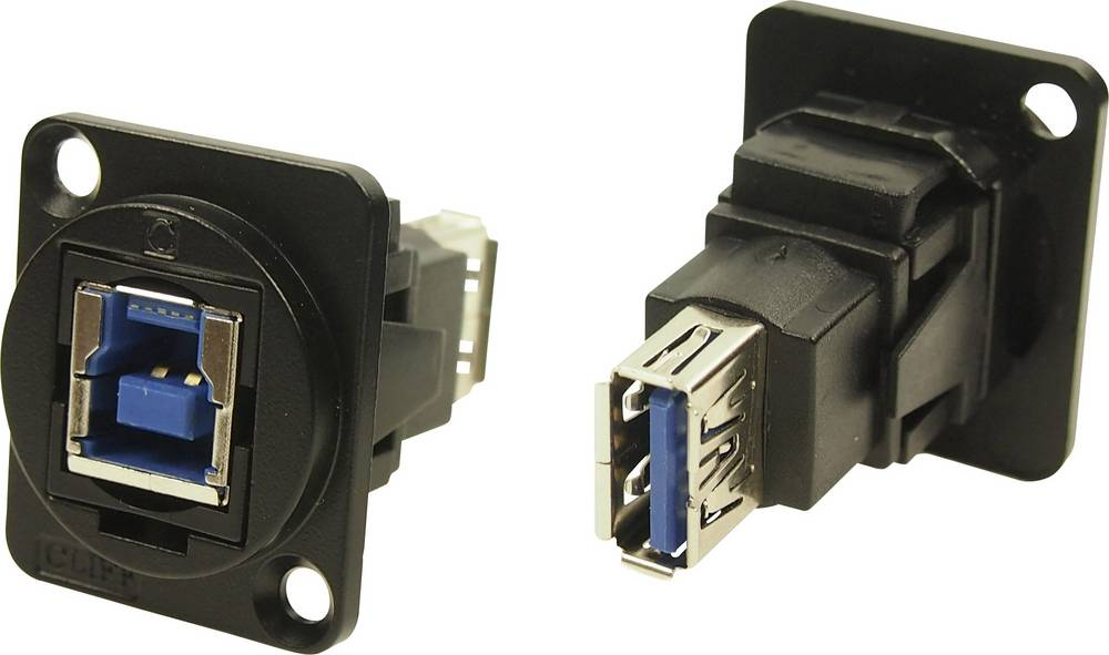 XLR adapter USB B vtičnica 3.0 na USB B vtičnico 3.0 adapter, vgradni CP30206NMB Cliff vsebina: 1 kos