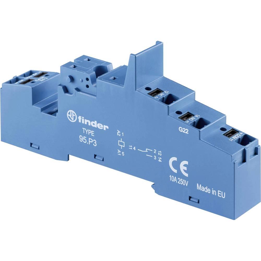 Relæsokkel 1 stk Finder 95.P3 Passer til serie: Siemens Bauform S00 (value.1428750), Finder serie 99, Weg Serie CWCI (value.1428