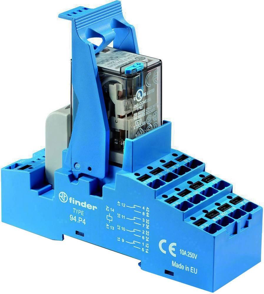 Relækomponent 1 stk Finder 58.P4.9.012.0050 Nominel spænding: 12 V/DC Brydestrøm (max.): 7 A 4 x omskifter