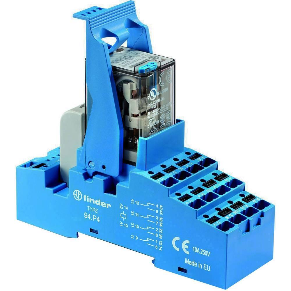 Relækomponent 1 stk Finder 58.P4.8.230.5060 Nominel spænding: 230 V/AC Brydestrøm (max.): 7 A 4 x omskifter