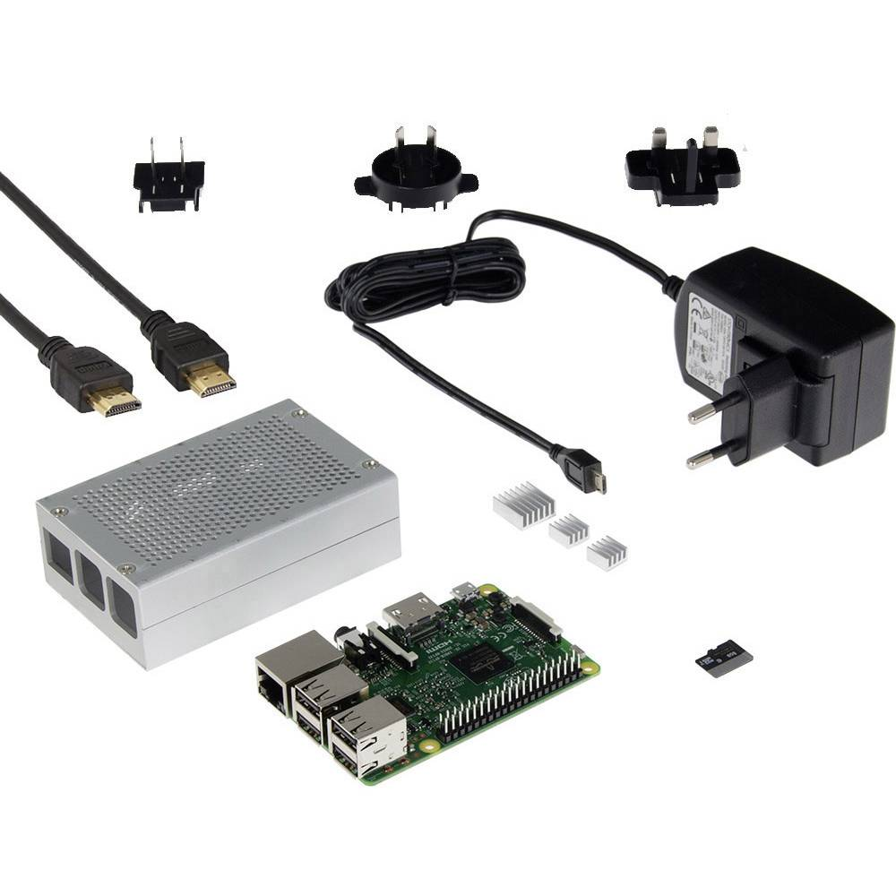 Raspberry Pi® 3 model B set medijski centar 1 GB
