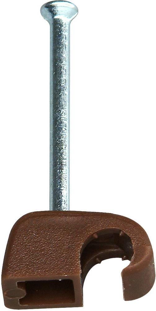 Komplet držača kabla s čavlom 34260608 Kopp 4 - 7 mm9 smeđa sadržaj: 50 kom.