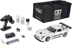 RC-modelbil 1:10 Tamiya Mercedes Benz SLS GT3 AMG Brushed Elektronik Vejmodel 4WD Byggesæt 2,4 GHz