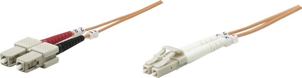 Priključni kabel iz optičnih vlaken [1x LC-vtič - 1x SC-vtič] 62,5/125µ multi-način OM1 1 m Intellinet